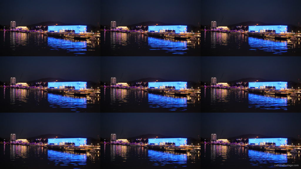 Marvelous-Night-on-Dunay-in-Linz-Linec-Austria-4K-25-fps-Live-Footage National Footage
