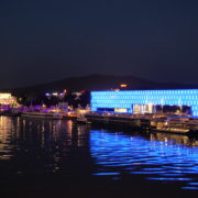 vj video background Marvelous-Night-on-Dunay-in-Linz-Linec-Austria-4K-25-fps-Live-Footage_003