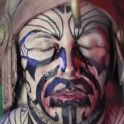 vj video background Maya-Man-Voodoo-Shaman-with-bloody-eyes-in-meditation-ritual_003