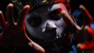 vj video background Shaman-Indian-tribe-with-a-painted-face-makes-magical-moves_003
