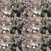 Sun-Medieval-Eropean-city-aerial-video-Ultra-HD National Footage