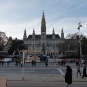 Timelapse-in-the-center-of-Vienna-Rathaus-Travel-people-tourists_004 National Footage