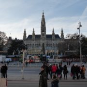 Timelapse-in-the-center-of-Vienna-Rathaus-Travel-people-tourists_006 National Footage