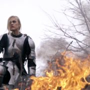 War-Girl-in-fire-with-sword-Knight-brave-woman-in-France_001 National Footage