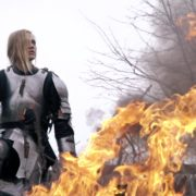 War-Girl-in-fire-with-sword-Knight-brave-woman-in-France_004 National Footage
