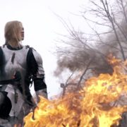 War-Girl-in-fire-with-sword-Knight-brave-woman-in-France_006 National Footage