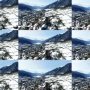 Winter-town-in-the-snowy-mountains-with-beautiful-views-and-ancient-towers National Footage