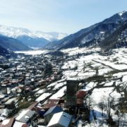 Winter-town-in-the-snowy-mountains-with-beautiful-views-and-ancient-towers_004 National Footage