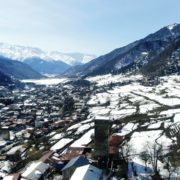 Winter-town-in-the-snowy-mountains-with-beautiful-views-and-ancient-towers_005 National Footage