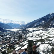 Winter-town-in-the-snowy-mountains-with-beautiful-views-and-ancient-towers_008 National Footage