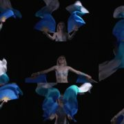 beautiful-dance-from-a-woman-in-a-sexy-costume-with-a-fan National Footage