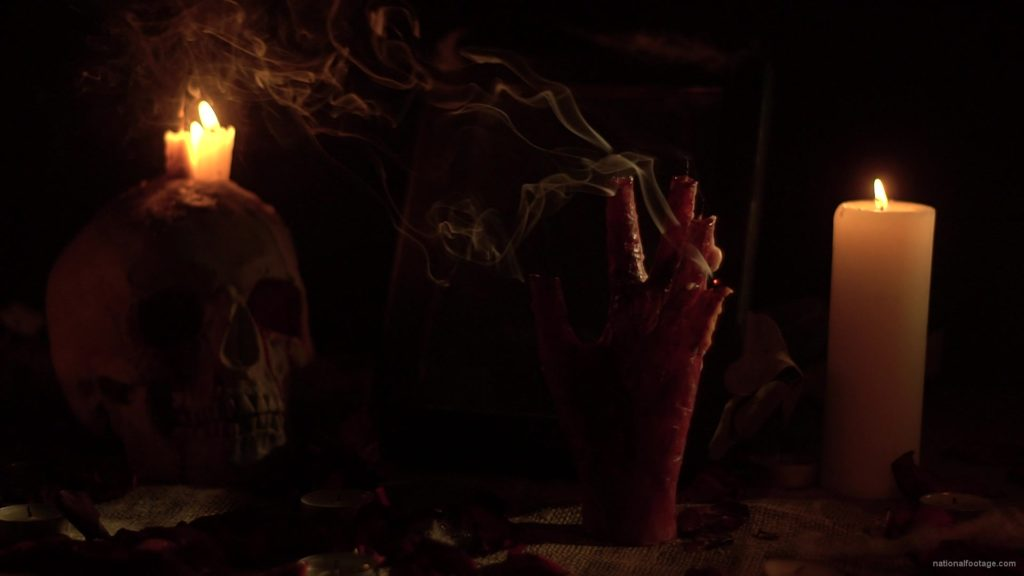 skull-with-a-candle-and-a-hand-in-the-form-of-a-candle-from-the-quench-of-the-wind_004 National Footage