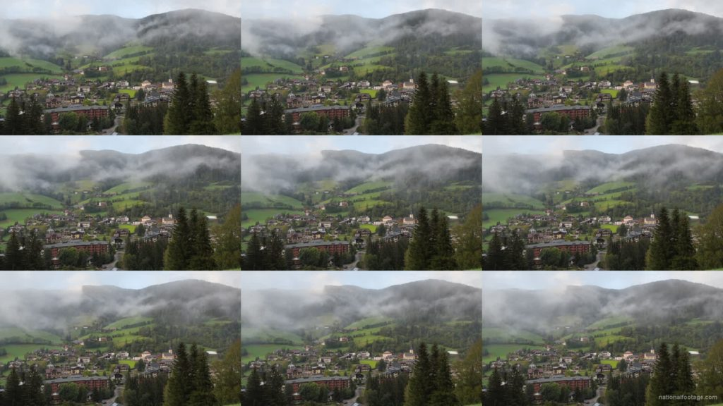 Timelapse-Full-HD-in-Austrian-Village-in-Alps-mountains National Footage